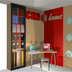 Rendering of Home Office Flat Pack Design